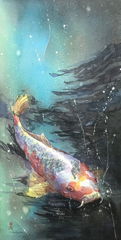 藤田わへい水彩画アートボード
