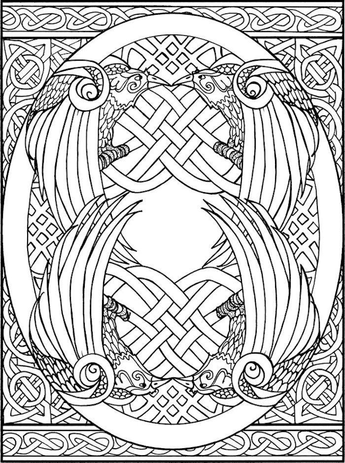 Dover Creative Haven Celtic Designs Coloring Page 1 Celtic
