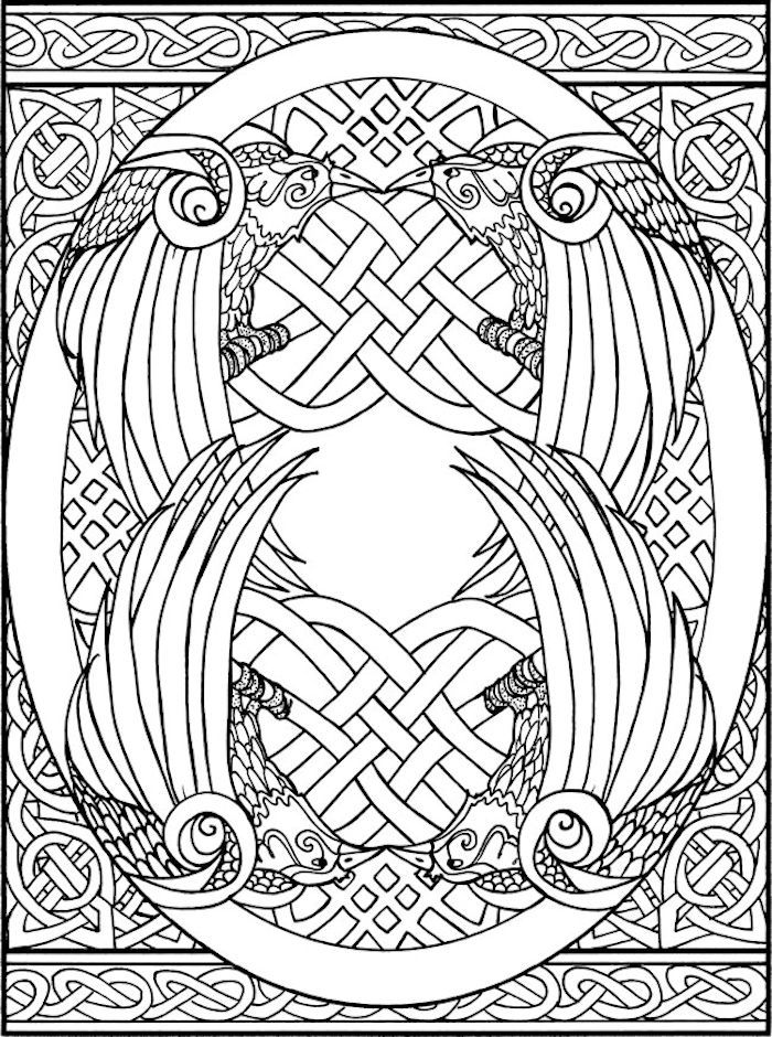 Dover Creative Haven Celtic Designs Coloring Page 1 Celtic