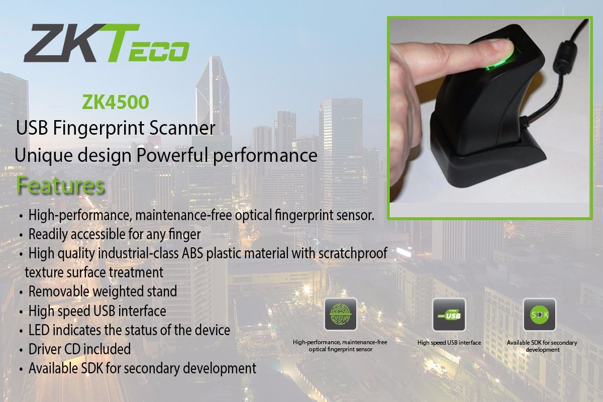 TimeWatch with ZKTeco offered the Unique Fingerprint Scanner