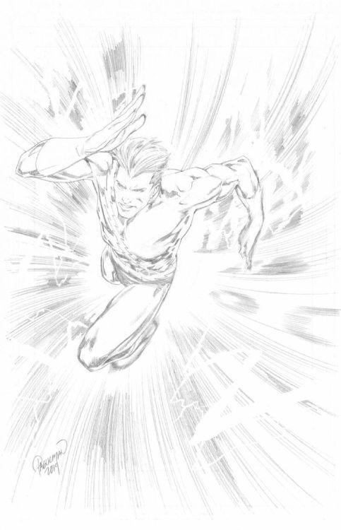 Quicksilver By Casey Jones | Comic book art style ...