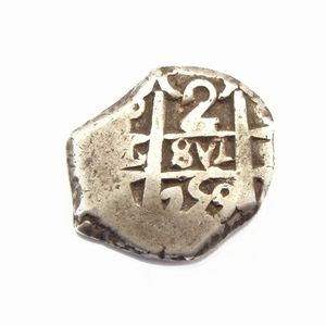 foto de Spain, silver 2 Reales cob coin, struck in Lima (Peru) in 1759 ...