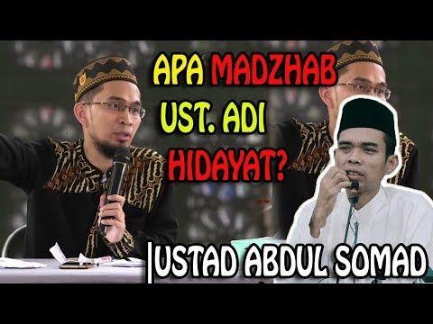 Apa Madzhab Ustad Adi Hidayat Ustadz Abdul Somad Lc Ma Youtube Apa Youtube People