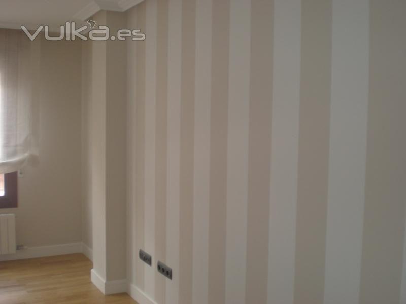 Resultado De Imagen Para Como Pintar Paredes A Rayas Verticales - Pintar-paredes-a-rayas-verticales