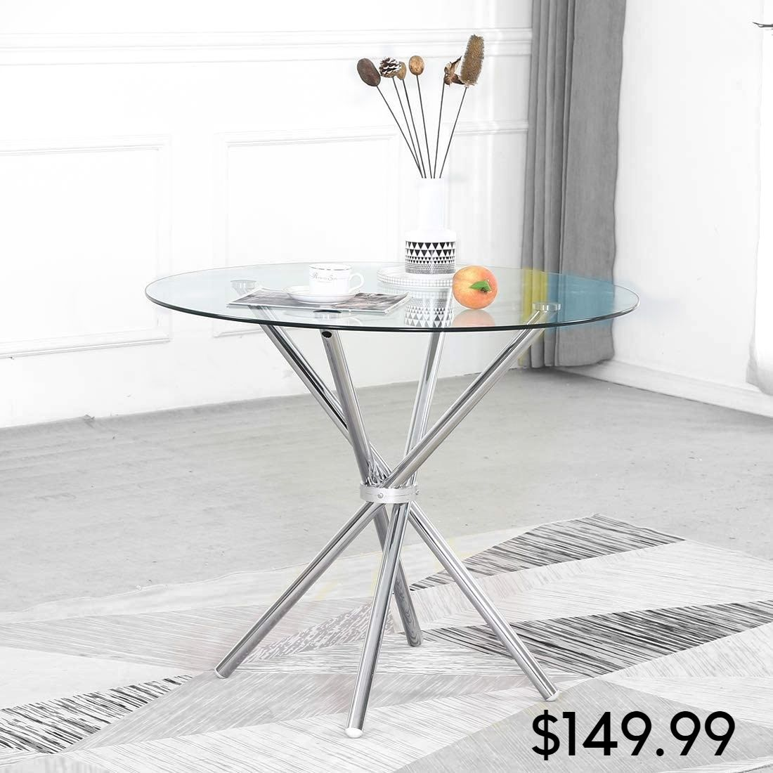 Modern Round Dining Table With Four Table Legs