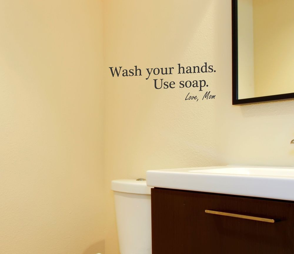 Your Hands Use Soap Wall Wecal bathroom removable sticker decor ...