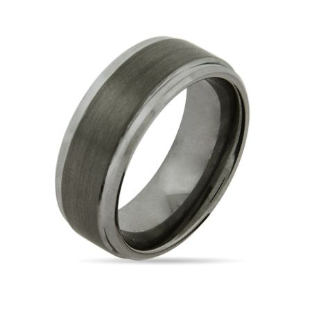 8mm Raised Center Engravable Tungsten Carbide Ring $45   *Engrave it!