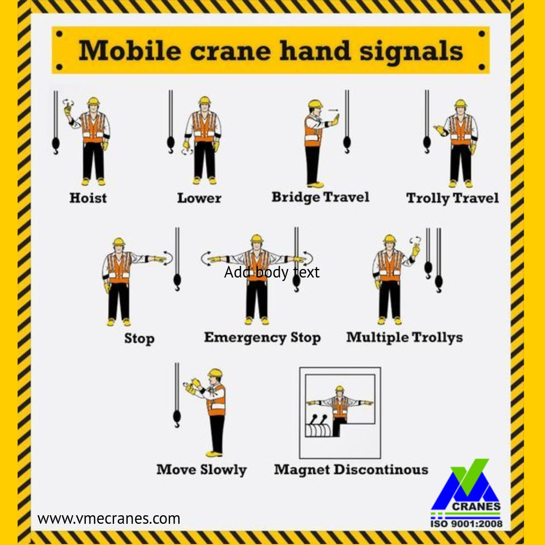 Pin By V M Engineers On Crane Spares Services Hand Signals Crane Construction Crane Safety