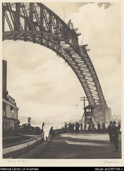 Cazneaux, Harold, 1878-1953. Arch in the sky [picture]