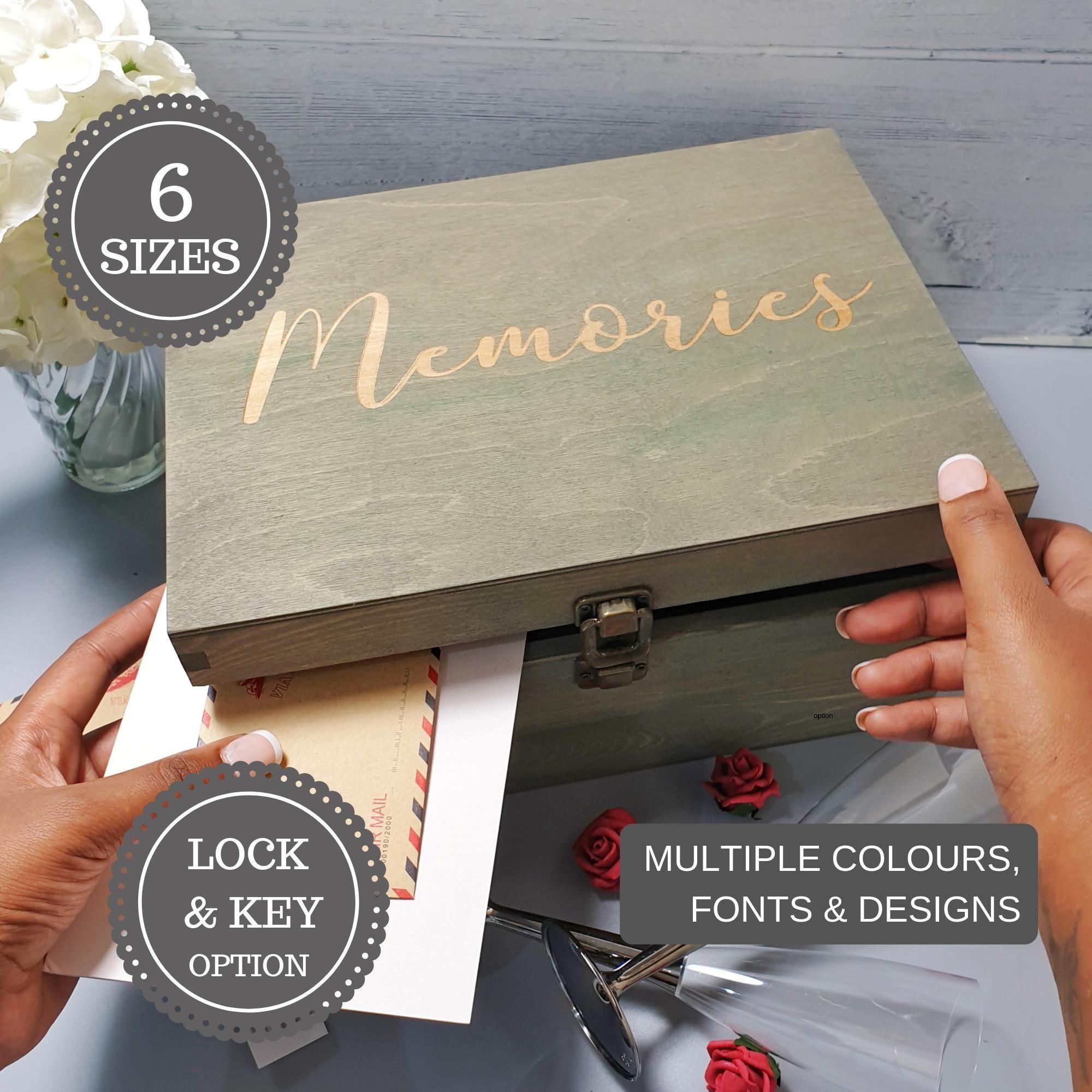 Personalised Birthday Memories Keepsake Box I 21st 30th