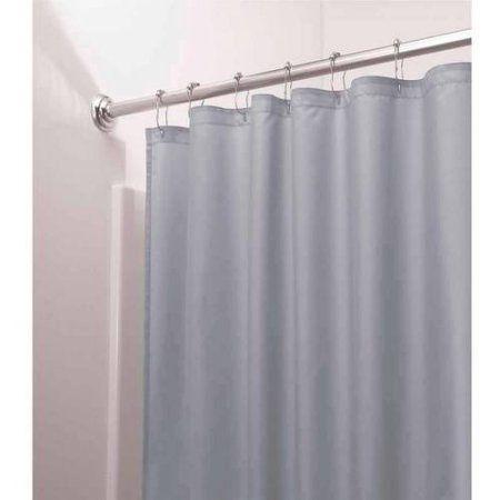Interdesign Mildew Free Water Repellent Fabric Shower Curtain Liner Various Sizes Blue Fabric Shower Curtains Stylish Shower Curtain Mold In Bathroom