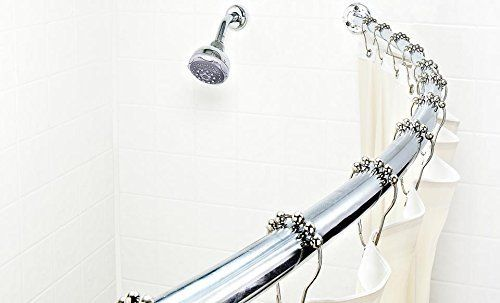 Bath Bliss Expandable 42 To 72 Inch Curved Shower Curatin Rod