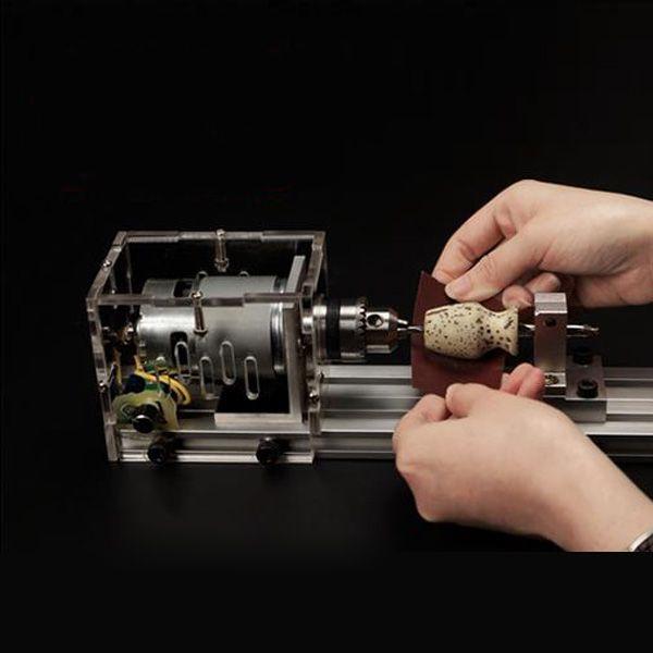 Mini Table Lathe Saw Machine Beads Polishing Diy Handmake