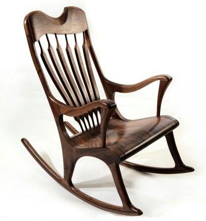 Chaise Bercante En Noyer Noir Walnut Handmade Rocking Chair Www Maxpoisson Com Custom Rocking Chairs Rocking Chair Rocking Chair Pads