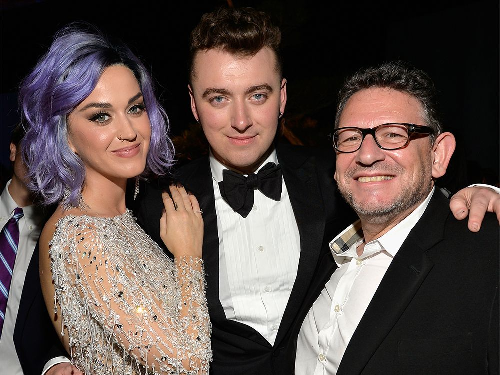 Katy Perry, Sam Smith and Lucian Grainge