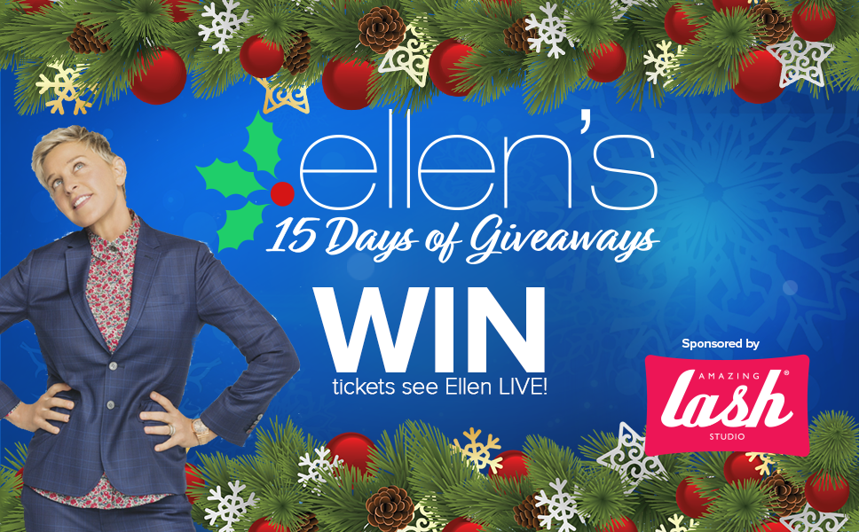 Enter To Win 2 Tickets To See A Live 15 Days Of Giveaways Ellen Taping On December 7th Christmas Fun Holiday Fun Christmas Time