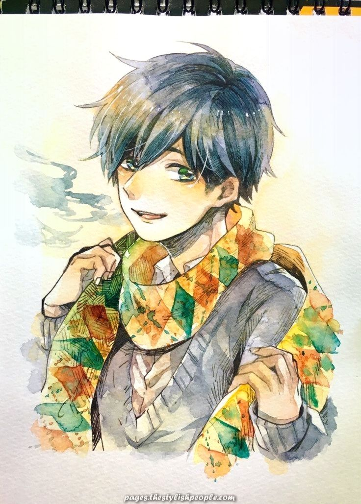 Great Anime Animeboy Boy Nature Artwork Arts Anime Art Cool Art Drawings Illustration Art