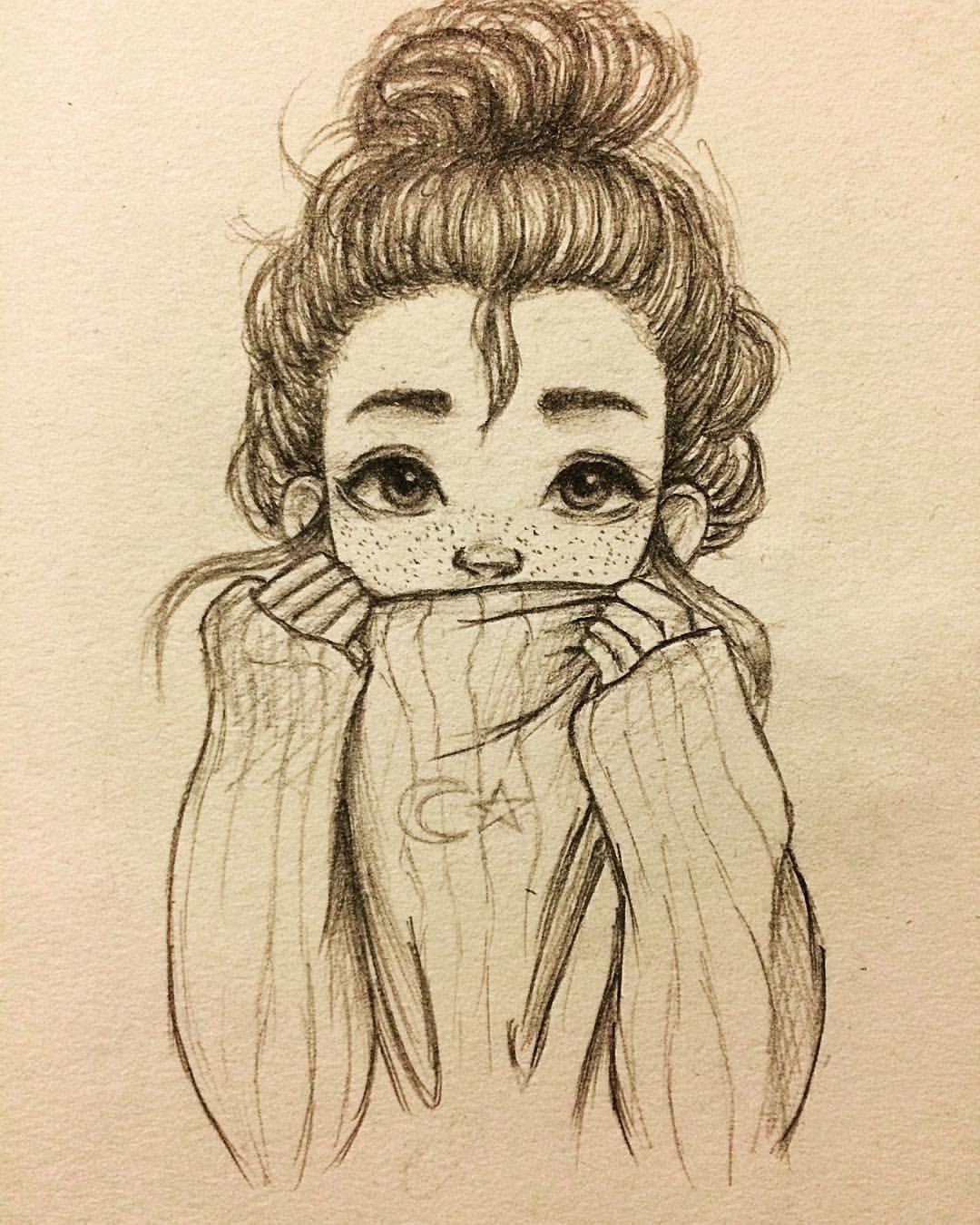 Artistic beğendim😇 sanat çizimler karakalem çizimler anime kız çizimleri sevimli çizimler