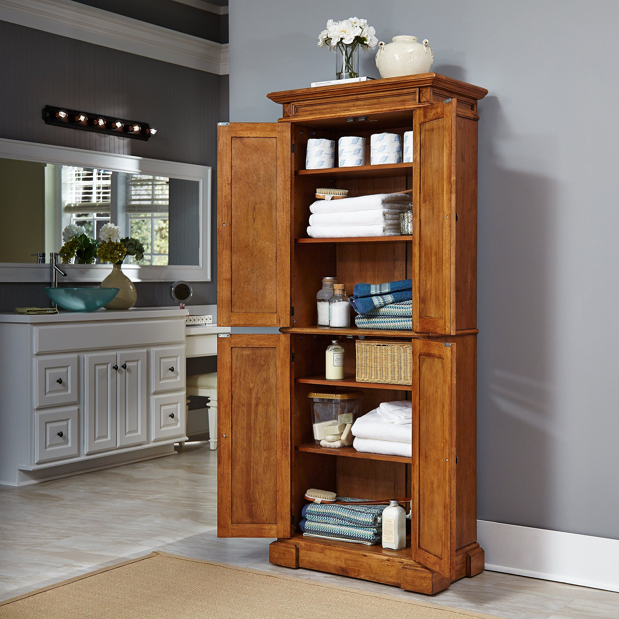 Home Styles 500469 Americana Pantry Storage Cabinet ...