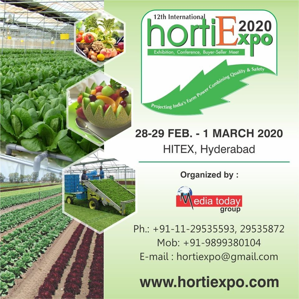 To 12th International Horti Expo 2020 in 2020