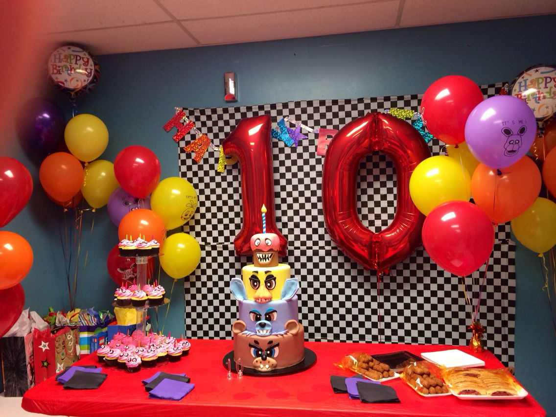 Ideas five nights at freddy party - Five Nights At Freddy S Fnaf Birthday Decor