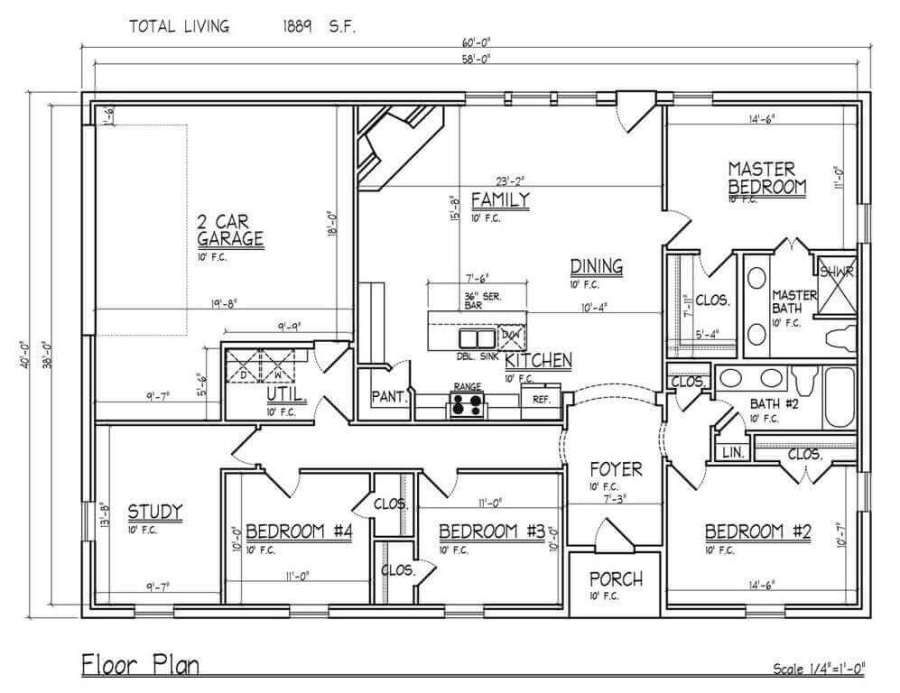 Modern Barndominium Floor Plans 2 Story With Loft 30x40 40x50