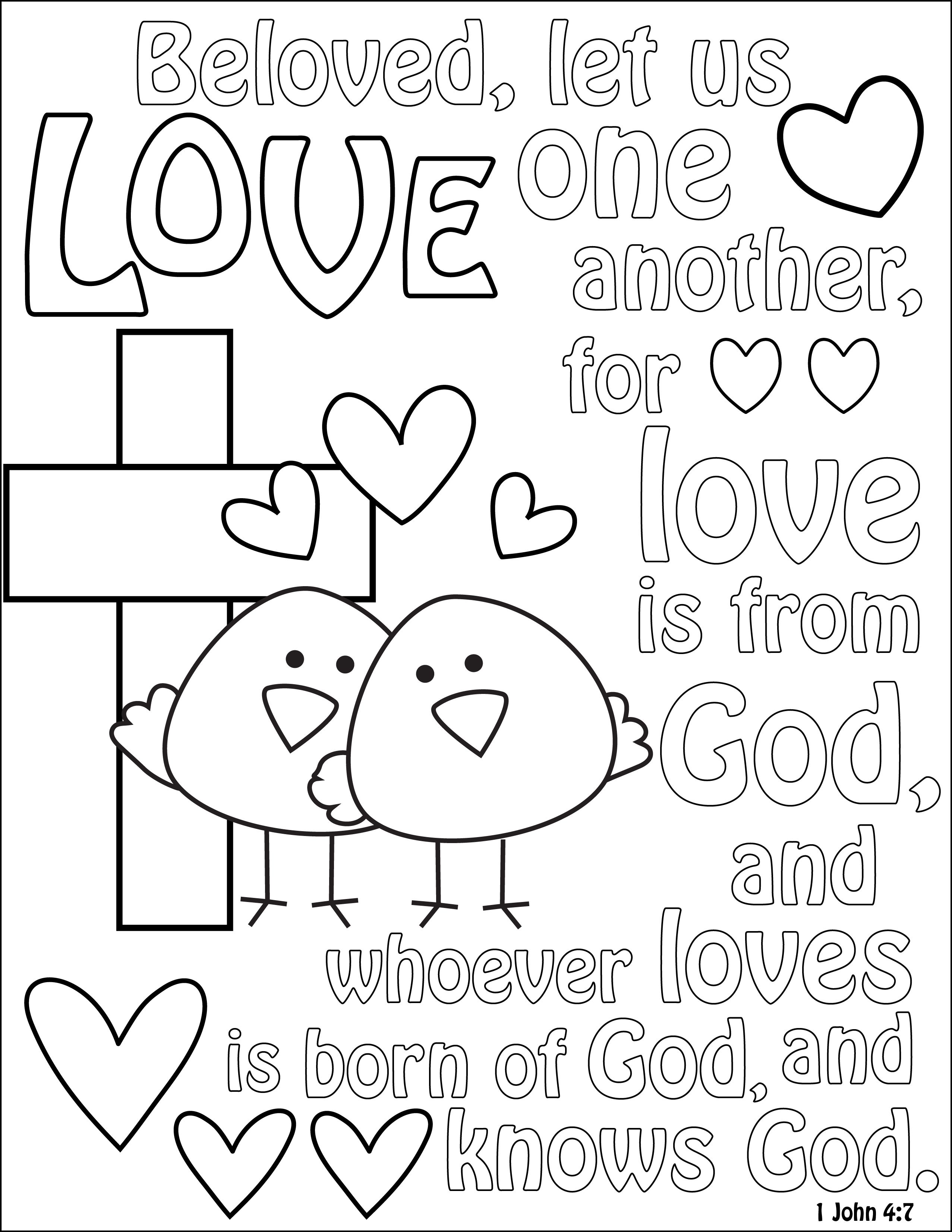 1 Way To Teach Kids About God S Love Bible Coloring Pages