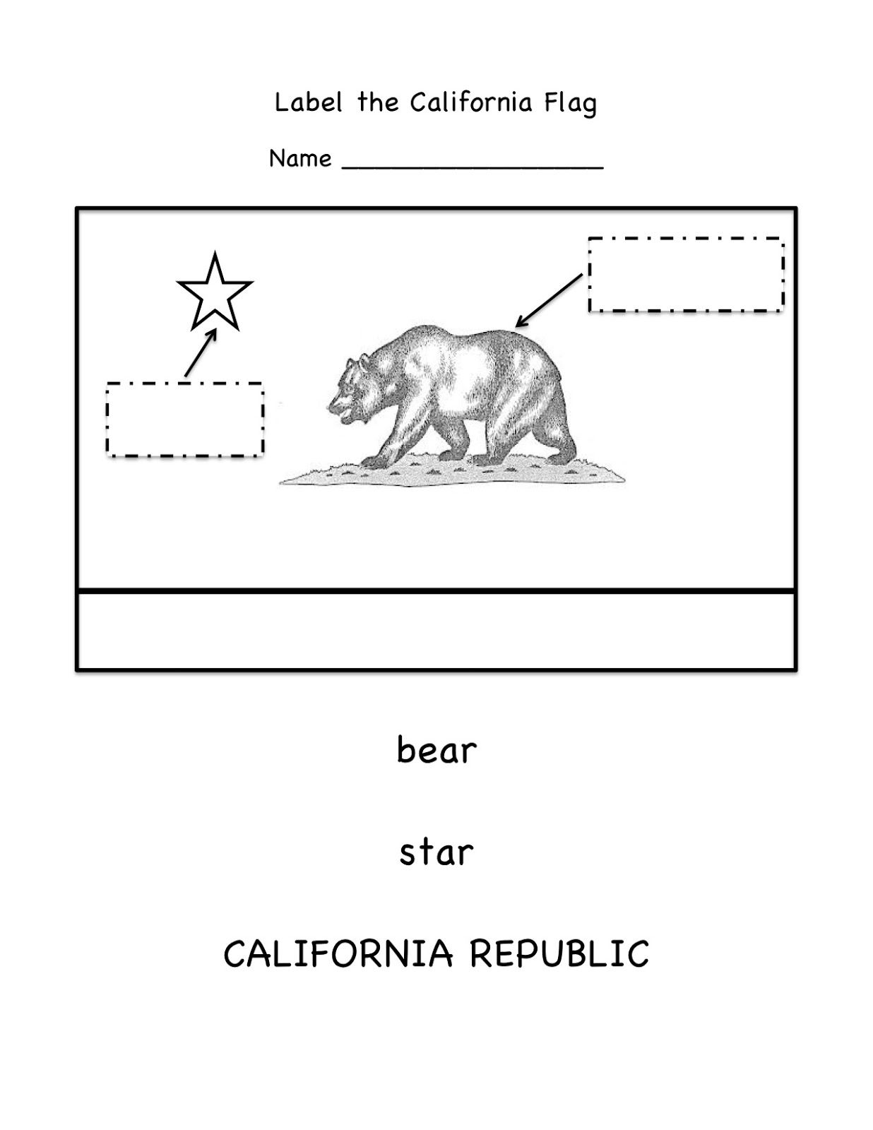 Free Worksheet For Labeling The Parts Of The California