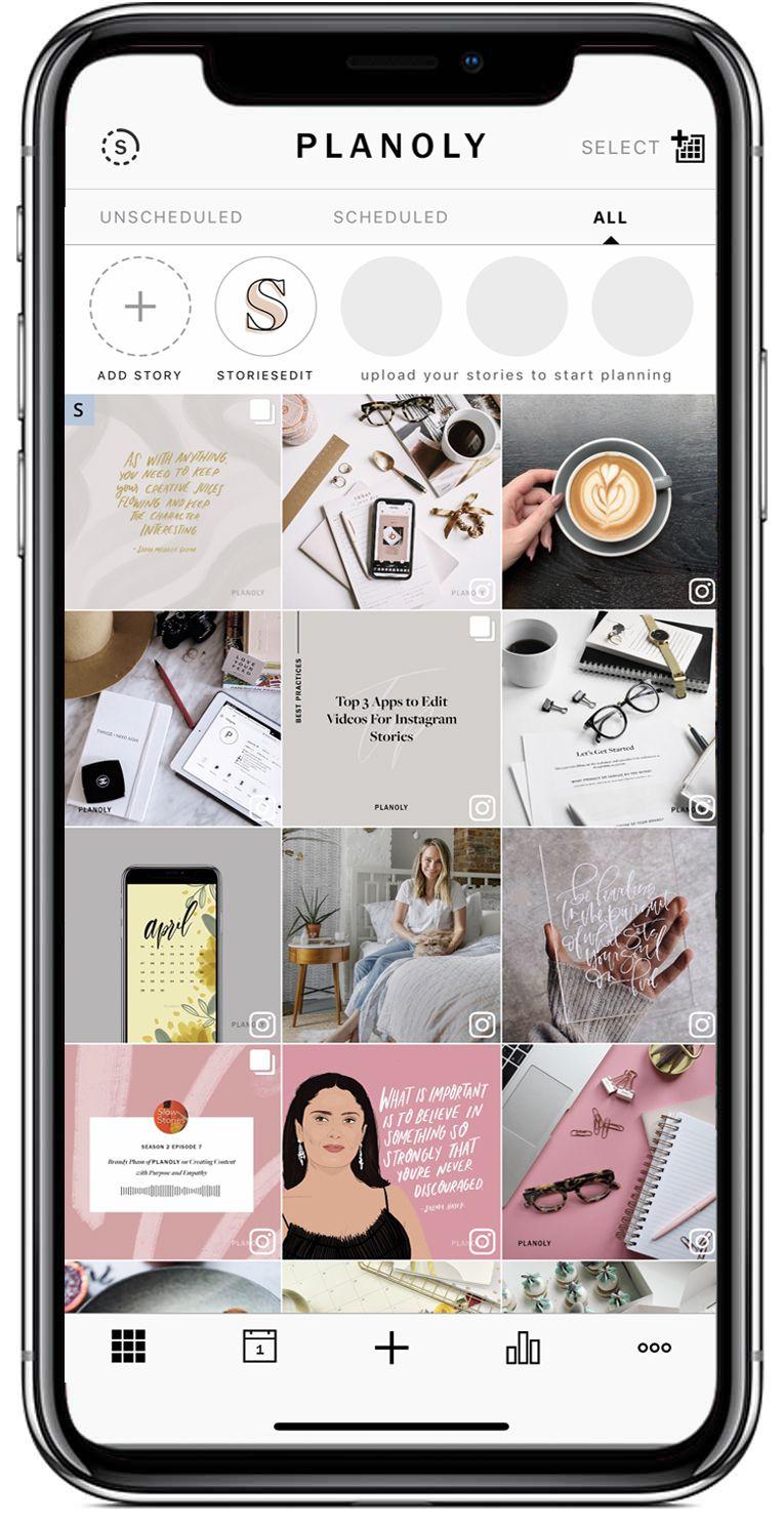 Planoly Instagram planner app, Instagram planner