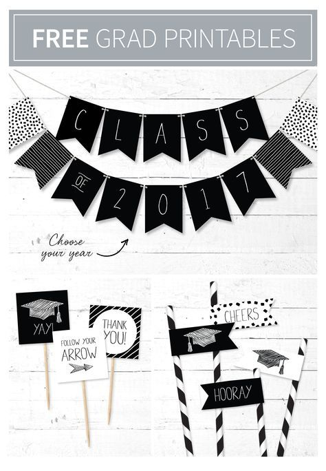 graphic relating to Printable Graduation Decorations identified as Youll crush upon: no cost printable commencement banner and tags