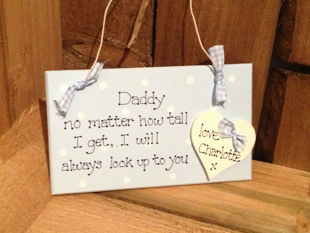 Handmade Wall Plaque Personalised Godfather Gift 15cm hanging wooden heart