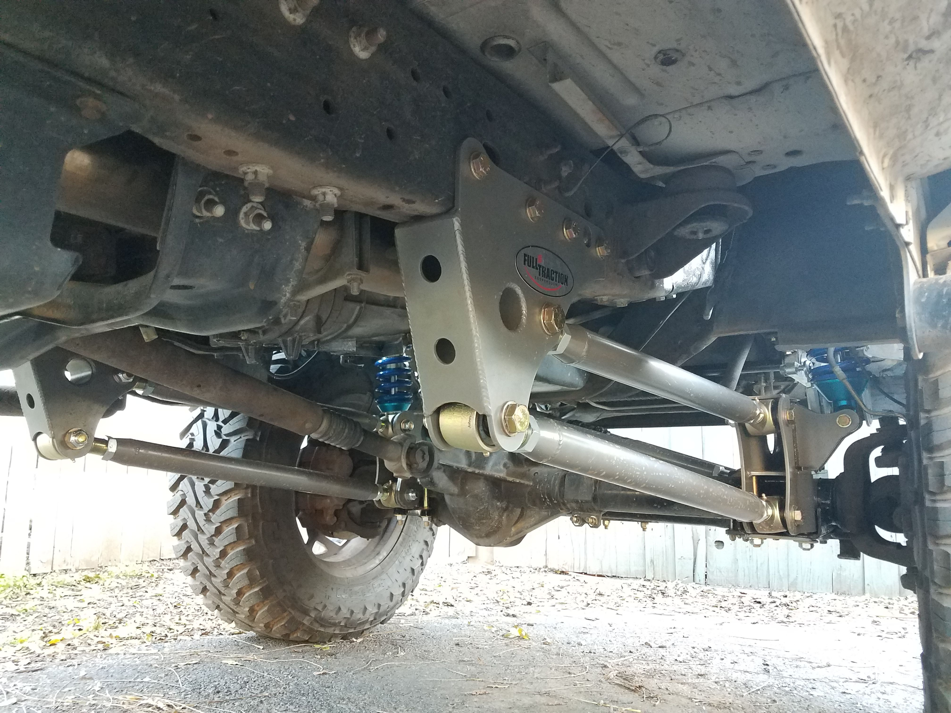 hight resolution of 1999 2000 2001 2002 2003 f250 f350 7 3l 6 0 diesel excursion super duty leaf spring delete 4 link king coil over conversion full traction toyo mt 37 bmf