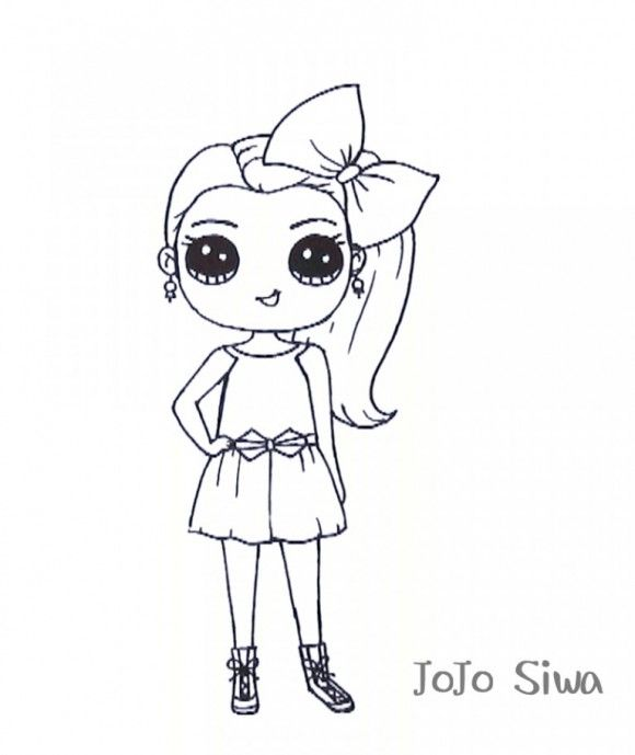 Jojo Siwa Coloring Page | Cricut | Coloring pictures for ...