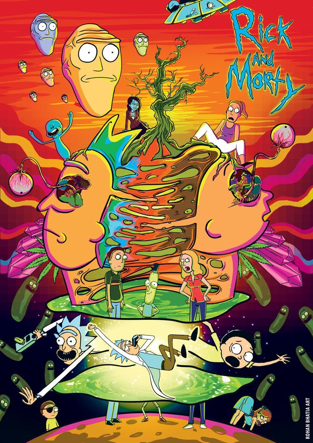Rick and Morty Wallpaper de desenhos animados, Papel de