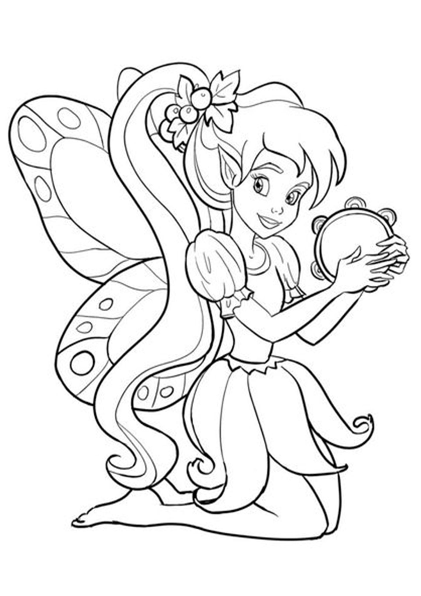 Free & Easy To Print Fairy Coloring Pages in 2020 | Fairy ...