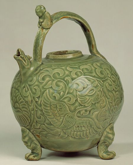 Ewer, Northern Song dynasty 11th-12th century; Yaozhou ware
