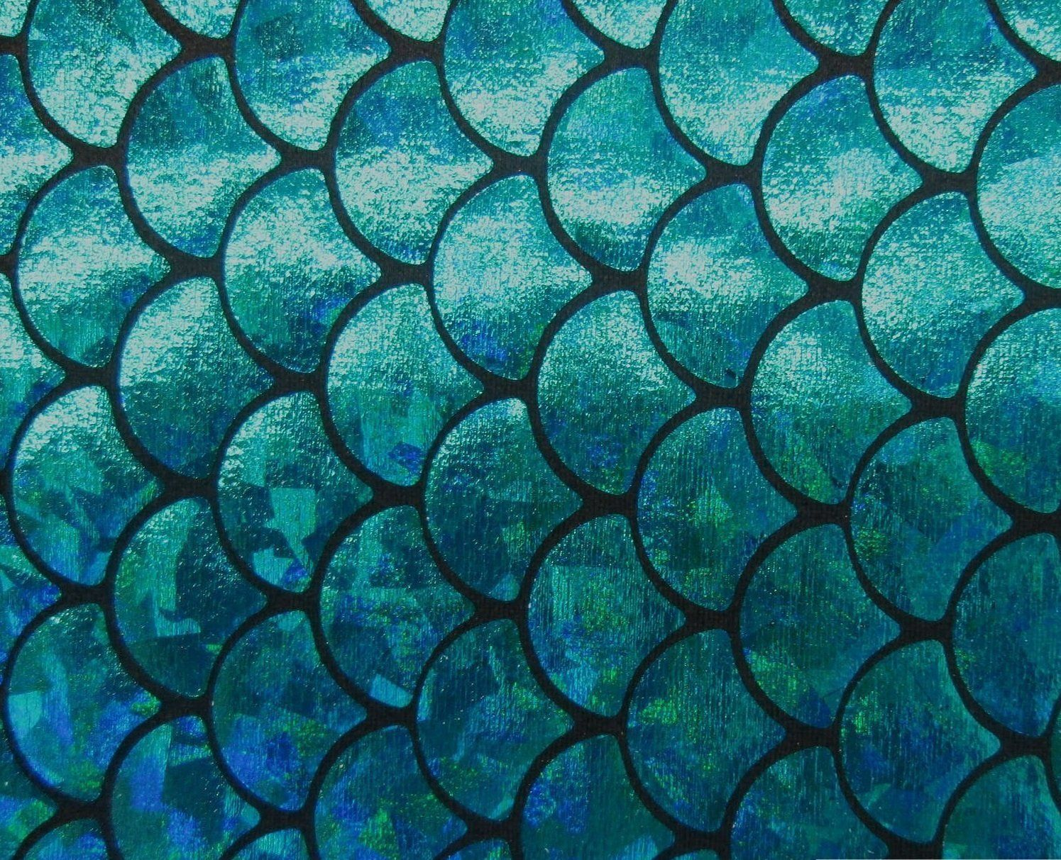 Fish scales teal spandex big fish scale blue for Do all fish have scales