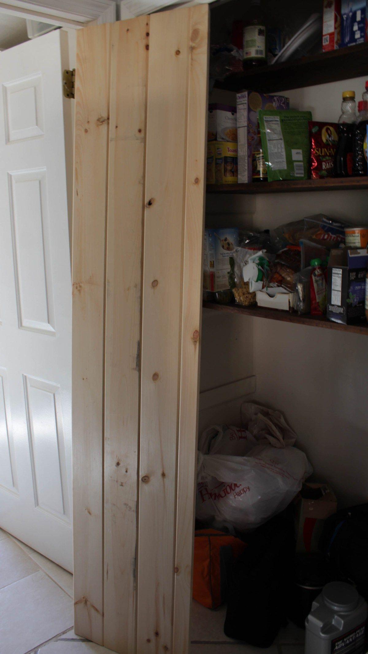 Double pantry barn door diy under 90 bifold pantry door