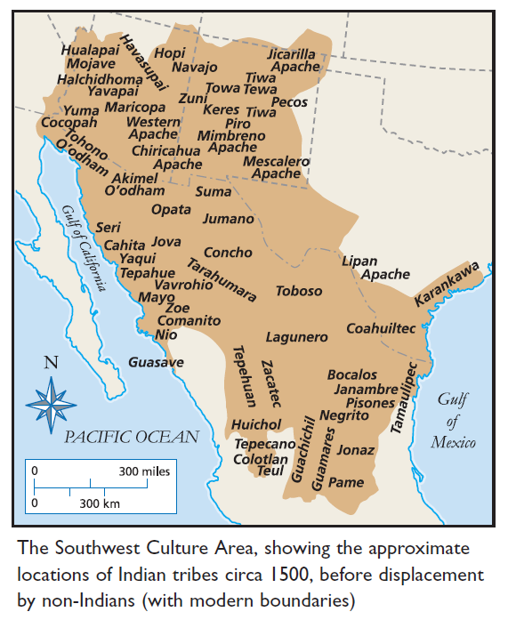 southwest native american map Southwest Native American Indian Nations American Indians