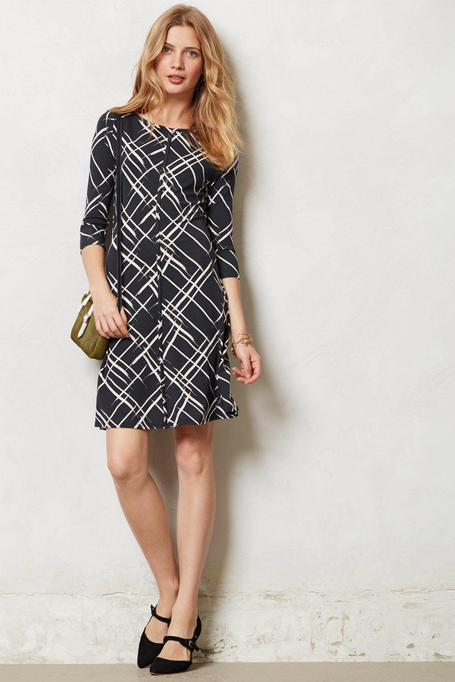 Etched Plaid Dress - anthropologie.com