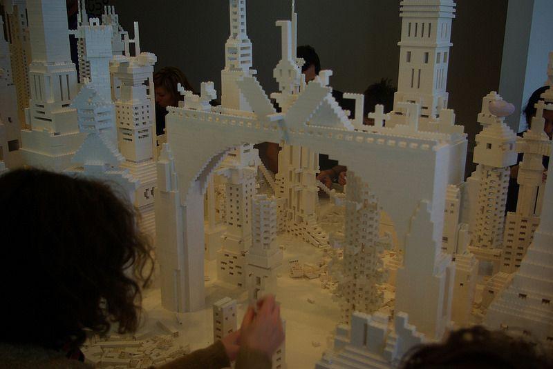 Lego structures - Dunedin Public Art Gallery