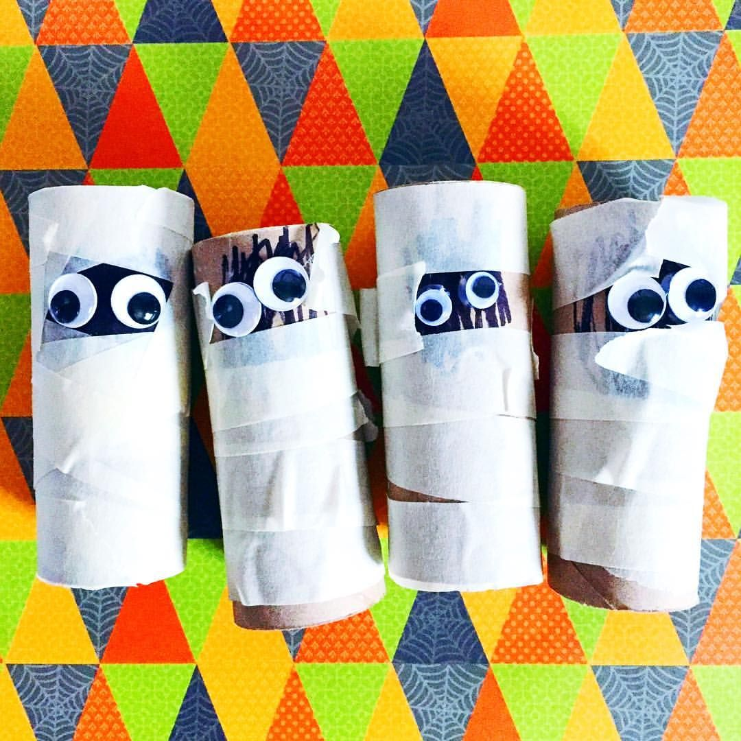 Toilet Paper Roll Mummies The Perfect No Mess Halloween