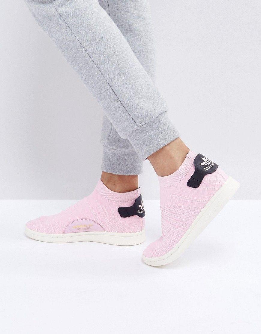 the best attitude 05137 cb8f7 ADIDAS ORIGINALS ADIDAS ORIGINALS PINK STAN SMITH PRIMEKNIT SOCK SNEAKERS -  PINK. adidasoriginals shoes