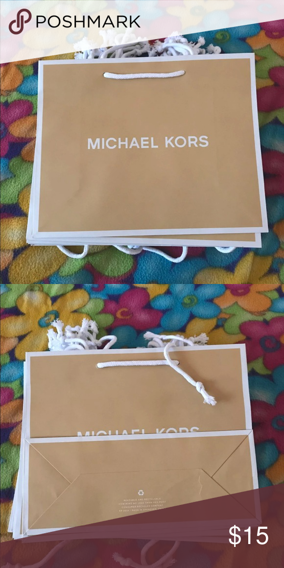 2df6a7113b61 15 Small Michael Kors Paper Bags paper bag lot -please don't ask for  negotiated price. Price is firm 15 Small Paper Bags - 10 x 8 Michael Kors  Bags