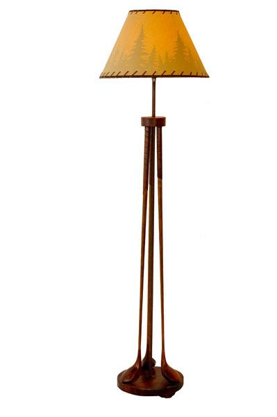 Golf Club Floor Lamp From VintageWinter