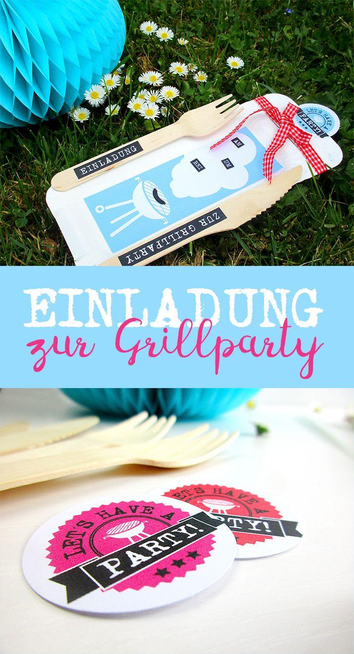 eine einladung zur grillparty von giftsoflove | free printables, Einladung