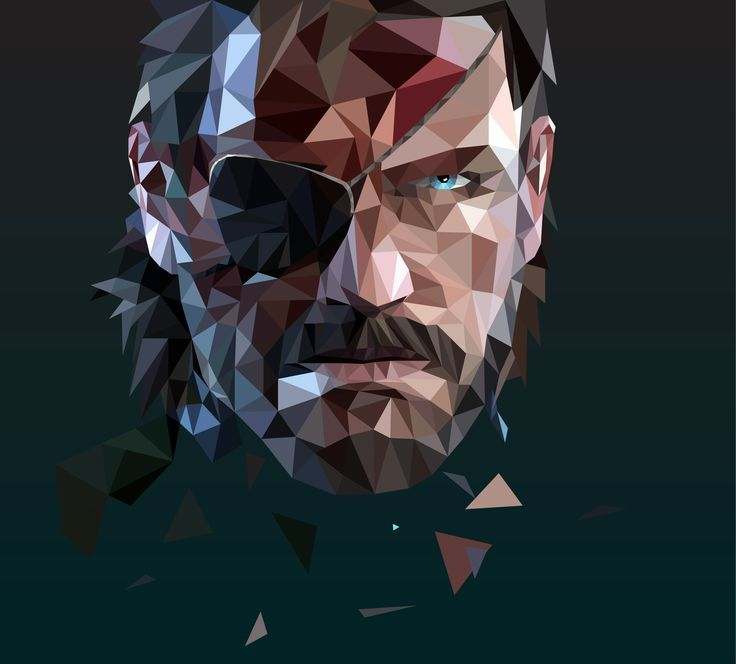 Big Boss from Metal Gear Solid V: Ground Zeroes | Low Poly