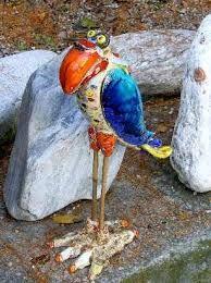 Resultado de imagen para keramik vögel für den garten