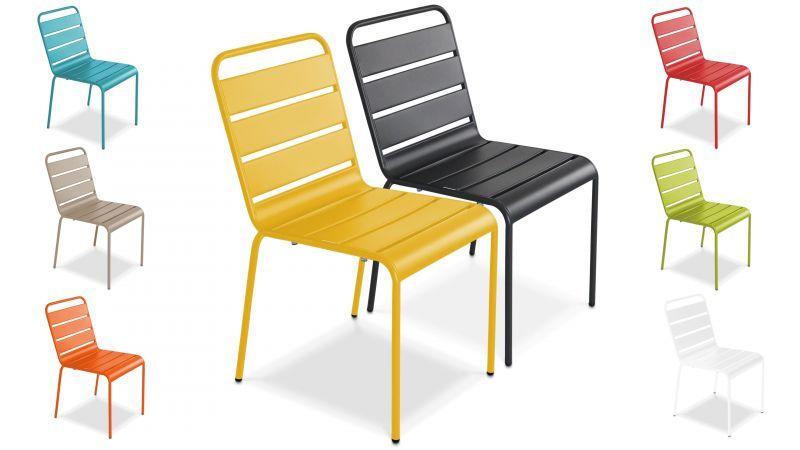 chaise de jardin en metal oviala