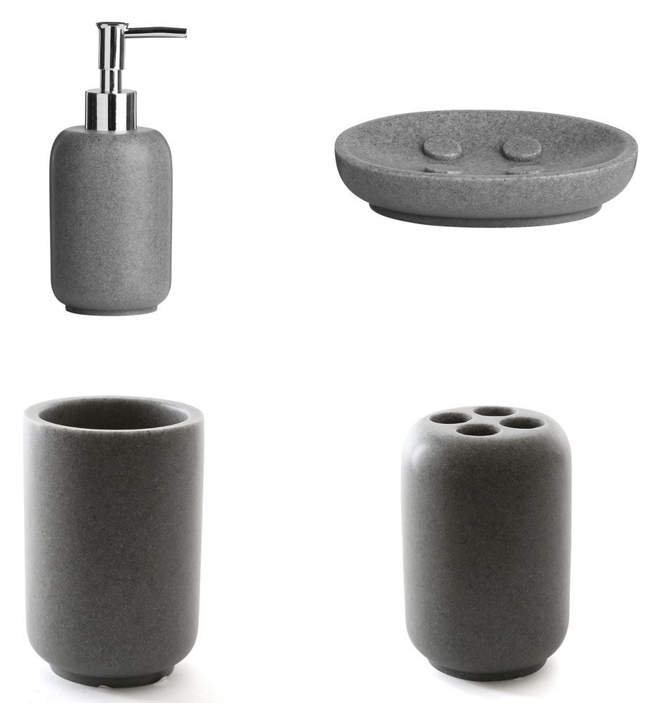 Stone Effect Resin Bathroom Accessories | Bathroom Accessories ...